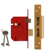 Thumbnail of Union 2234 - 5 Lever Sashlock (67mm, Polished Brass, Keyed Alike)