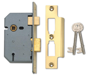 Thumbnail of Union 2277 - 3 Lever Sashlock (65mm, Polished Brass, Keyed Alike)