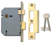 Thumbnail of Union 2277 - 3 Lever Sashlock (77mm, Polished Brass, Keyed Alike)