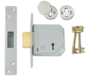 Union 3G114E - BS 5 Lever Deadlock (67mm, Satin Chrome)