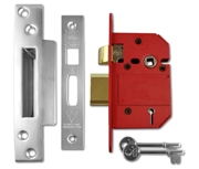 Union J2200 StrongBOLT - BS 5 Lever Sashlock (68mm, Satin Stainless Steel)