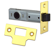 Union Essential - Tubular Latch (75mm, Polished Brass)