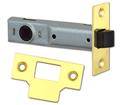Union Essential - Tubular Latch (89mm, Polished Brass)