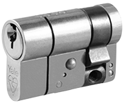 Thumbnail of Yale Anti-Snap - Euro Half Cylinder 35 - 10 (45mm Nickel Plated)