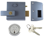 Thumbnail of Yale No. 1 - Auto Deadlocking Night Latch (60mm, Dark Grey, Satin Chrome)