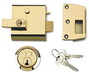 Yale No. 1 - Auto Deadlocking Night Latch (60mm, Polished Brass)
