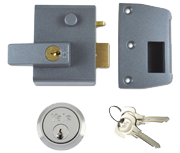Thumbnail of Yale No. 2 - Auto Deadlocking Night Latch (40mm, Dark Grey, Satin Chrome)