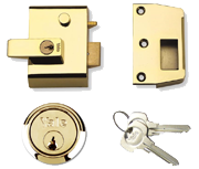 Yale No. 2 - Auto Deadlocking Night Latch (40mm, Polished Brass)
