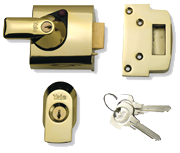 Yale PBS1 Deadlocking Night Latch (Polished Brass)
