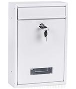 Popular White - Steel Post Box