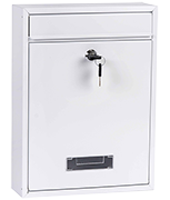 Simplex White - Steel Post Box