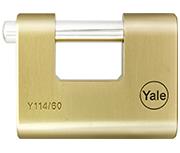 Thumbnail of Yale Y114 60mm Brass Shutter Padlock