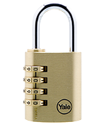 Yale Y150 40mm Brass Combination Padlock