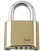 Yale Y126 50mm Brass Combination Padlock