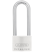 Thumbnail of ABUS TITALIUM 64TI/50 Long 80mm Shackle Padlock - Keyed Alike