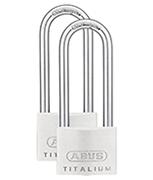 Thumbnail of ABUS TITALIUM 64TI/50 Long 80mm Shackle Padlock (3 pack)
