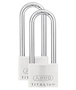 Thumbnail of ABUS TITALIUM 64TI/50 Long 80mm Shackle Padlock (4 pack)