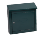 Thumbnail of Moda Green - Steel Post Box