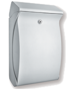 Swing White - Plastic Post Box