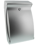 Swing Silver - Plastic Post Box