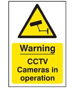 CCTV Self Adhesive Warning Sign