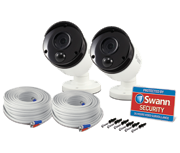 Swann Outdoor 3 Megapixel True Detect CCTV Camera (Twin Pack)
