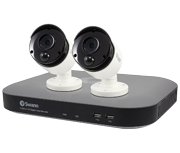 Swann DVR-4780 4 Channel 3 Megapixel - 2 Camera True Detect CCTV Kit