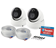 Swann Outdoor HD 1080p True Detect CCTV Dome Camera (Twin Pack)
