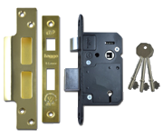 Legge 5642 - BS 5 Lever Sashlock (64mm, Polished Brass)