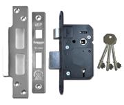 Legge 5642 - BS 5 Lever Sashlock (68mm, Stainless Steel)