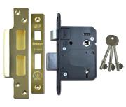 Legge 5762 - BS 5 Lever Sashlock (81mm, Polished Brass)