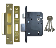 Thumbnail of Legge 5762 - BS 5 Lever Sashlock (81mm, Polished Brass)