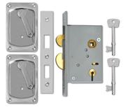 Thumbnail of Willenhall 3500 - 4 Lever Hookbolt Sliding Door Lock (75mm, Satin Chrome)