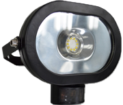 Thumbnail of Asec Black 10W Ultra Slim Oval LED PIR Floodlight