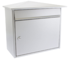 Mersey Silver - Steel Post Box