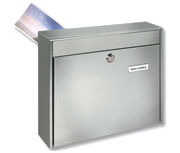 Borkum - Rear Access Stainless Steel Post Box