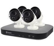 Swann DVR-4780 8 Channel 3 Megapixel - 4 Camera True Detect CCTV Kit