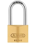 ABUS Brass 65/40 Long 40mm Shackle Padlock - Keyed Alike