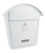 Classic 2 White - Steel Post Box