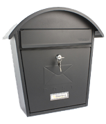 Classic 2 Black - Steel Post Box