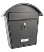 Classic 2 Black - Front Loading 18Ltr Medium Post Box