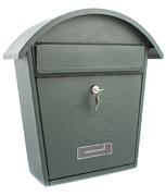 Classic 2 Green - Steel Post Box