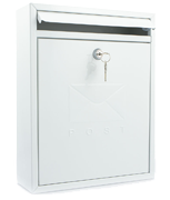 Thumbnail of Compact White - Steel Post Box