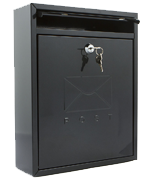 Compact Black - Steel Post Box