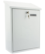 Grand White - Steel Post Box