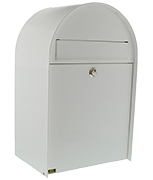 Thumbnail of Nordic White - Steel Post Box (Medium)