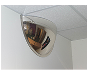Convex 600mm Acrylic Half Dome Indoor Corridor Mirror