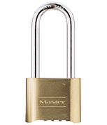 Master Lock 175 Long 58mm Shackle Brass Combination Padlock