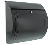Modena Anthracite - Steel Post Box
