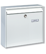 Thumbnail of Potsdam White - Steel Post Box